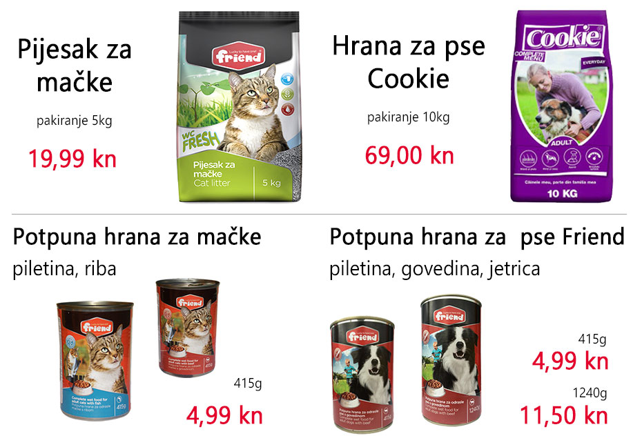 Posebna ponuda za pse i mačke Friend, Cookie